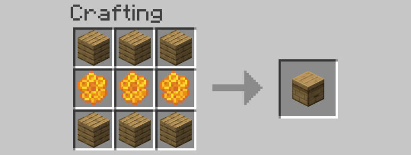 How to craft a bee hive in minecraft