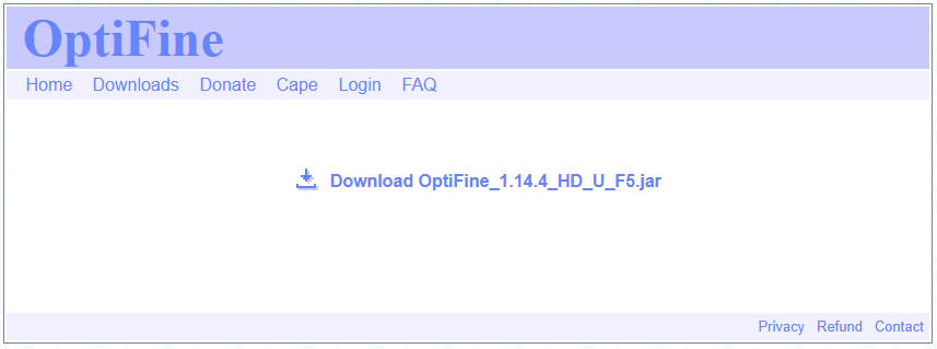 download and install optifine for minecraft