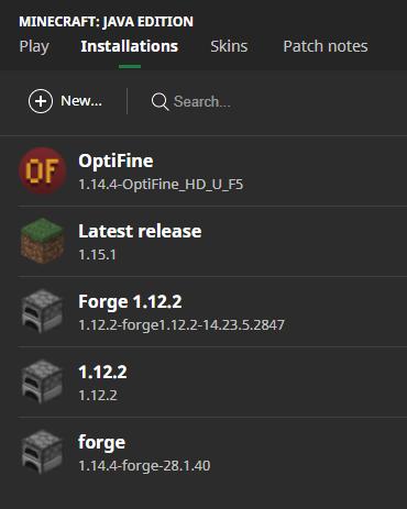 OptiFine Installed on Minecraft Launcher
