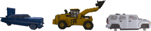 Different vehicles in Teardown