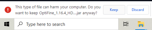 trouble downloading optifine