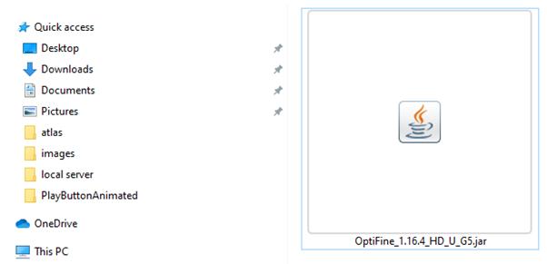 installing optifine