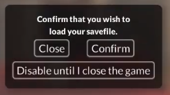 Quick Save Warning