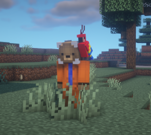 Minecraft Parrot will sit on your shoulder